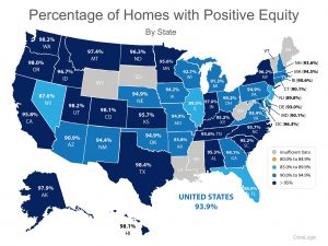 % of Homes with Positive Equity in the US